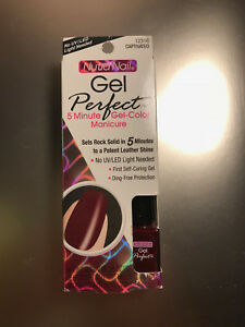 5 X Nutra Nail Gel Perfect UV-FREE GEL-COLOR Manicures (PLEASE READ) AS IS