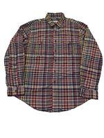 Polo Ralph Lauren Men's XL Custom Fit Long Sleeve Flannel Plaid Multicolor Shirt