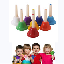 More details for best gift kids tones rainbow music hand bells educational musical instruments