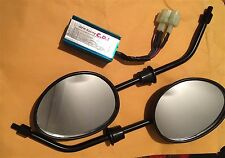 New Racing CDI tzr50 & 2 MIRRORS Scooter Moped Parts LOT NJ 6 pin dual plug blue