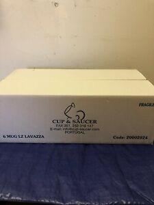 Set of 6 Lavazza 10 oz Coffee/Tea Mugs
