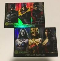 Team Cards Injustice Series 2 Arcade Game Femmes Fatales Gotham Knights Foil