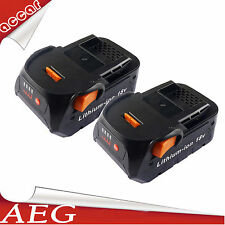 2X Battery For AEG 18V Li-ion 6.0Ah BMS 18C,BSB 18 STX,BSB 18,BST 18X,BHO 18 AU