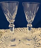 """St. Louis Crystal Cordial Glasses  """"Ardeche"""" Pattern  1.5 oz 4.5"""" tall  Set of 2"""