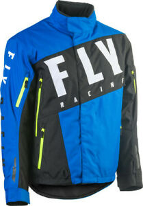 Fly Racing 2020 Snow Adult SNX Pro Snowmobile Jacket Blue Black Hi Viz All Sizes