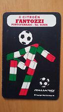 CALENDARIO TASCABILE 1990 con MASCOTTE ITALIA '90 (Mondiali di calcio) cm 11 x 7