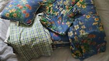 Waverly Reversable Blue Floral 6 Piece Twin Comforter Set Valance