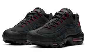 Mens Nike Air Max 95 Trainers DD7114 001 Black/red Size UK 6 EU 40