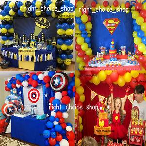Marvel Incredible Hulk Spider-Man Super-Man Disney Theme Latex Balloons Arch Set