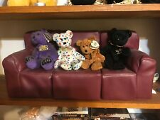 Lot of Doll Couch / Sofa & 4 Beanie Babies Dolls CUTE Set^