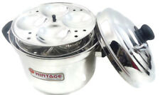 IDLI MAKER COOKER STAINLESS STEEL 6 PLATES INDUCTION LPG SAFE KITCHEN COOKWARE