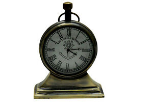 Victoria London Made For Royal Navy London 1917 Brass Table Clock Desk Decor