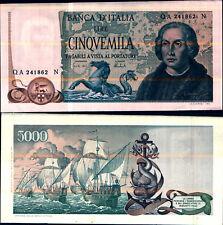 """1973 * Banconota Italia Repubblica 5000 Lire """"C Colombo FDS"""