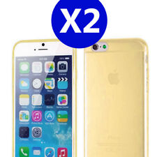 2X Gold iPhone 6 / 6s TPU Gel Soft Jelly Case Phone Cover for Apple