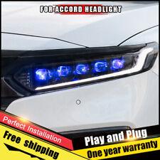 For Honda Accord Headlights assembly FULL LED Lens Double Beam LED KIT 2018-2019