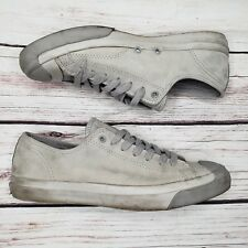 9ad80aab883 Converse Jack Purcell Low Top Sneakers DOLPHIN Gray Grey Leather Cork Shoes  10