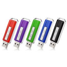5PCS 16GB USB Flash Drives Drive Memory Sticks Anti-skid Pendrive 5 Colors