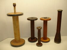 VINTAGE ASSORTMENT OF TEXTILE SPOOLS AND SPINDLES
