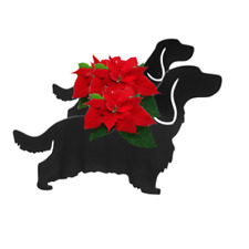 Cocker Spaniel Dog Standing Garden Planter Flower Pot Display Holder