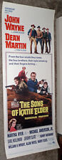THE SONS OF KATIE ELDER orig ROLLED 1965 movie poster JOHN WAYNE/DEAN MARTIN