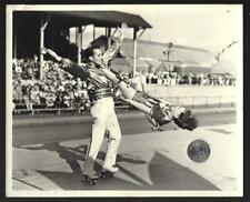 "Vintage Publicity 8"" X 10""  Photo- Performing Roller Skating Acrobat Team 1941"