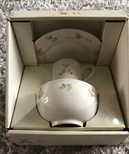 M&S BABY's 3 PIECE CHINA BREAKFAST SET PLATE BOWL & CUP from MARKS & SPENCER NEW