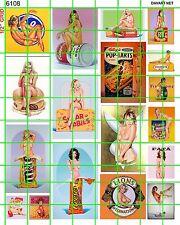 6108 Dave's Decals - Garage Diorama Art 1:18 1:24 1:25 scale Ramos Girls Nude