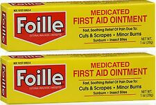 Foille Medicated First-Aid Ointment Tube 1 oz ( 2 pack )