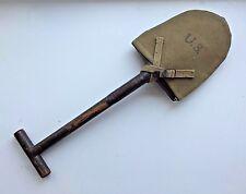 WW2 US Army T-Handle Shovel & Cover Kadin Bros. 1942 E-Tool