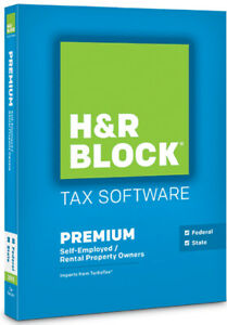 2015 H&R Block PREMIUM • Federal & State • Self employed, Property Owner • CD