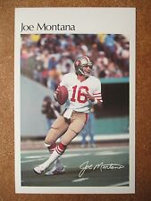 "1982 Joe Montana Sears Roebuck Card 5.5x8.5"" TOUGH! 49ers Notre Dame"