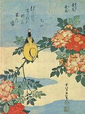 ART PRINT POSTER PAINTING JAPANESE BIRD FLOWERS FLORAL NOFL0774