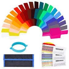 Neewer 20pcs Flash Gels Transparent Color Correction Balance Lighting Filter Kit