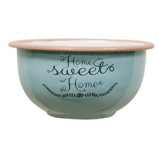 Enamel Home Sweet Home Cup in Light Turquoise- Farmhouse Decor