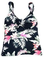 New Tommy Bahama Womens Tiki Floral Ginger Flower Tankini Padded Swim Top Sz XS