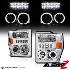 {LED}2008-10 F-Series 250/350/450 Super Duty Halo Projector Headlights Kit-CLN