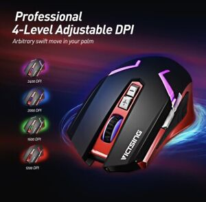 VicTsing Wireless Gaming Mouse Rechargeable PC131A  DPI for PC Laptop Mac