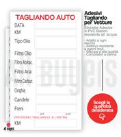 Tagliando Auto Cambio Olio Etichetta - Adesivo  Stampa Resistente Tagliandi auto