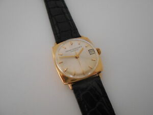 Girard Perregaux Gyromatic Mans Wristwatch, 14 Kt Solid Gold Case