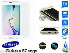 Samsung Galaxy S7 Edge FULL 3D Curved WHITE Tempered LCD Glass Screen Protector