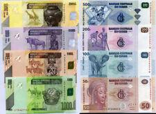 CONGO SET 8  UNC 50 100 200 500 1000 5000 10000 20000 FRANCS 2007- 2013 P 97-104