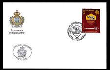 San Marino 2017 90° fond de teint A.S.ROME SACHET PREMIER JOUR FDC ANNULATION
