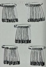 50 Jumbo Safety Pins Silver Tone (2 Inches Long)  NEW in Pack