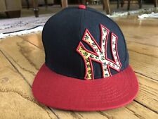New York Yankees New Era 59FIFTY Fitted Baseball Hat Cap 7 1/4 Red Yellow Black