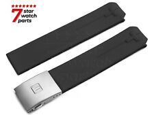 FOR TISSOT T-TOUCH Watch 21mm BLACK Rubber T013420 A BE Strap Band Clasp Buckle