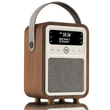 Dab+ Radio Bluetooth Portable Speaker Fm Alarm Clock - Monty by Vq - Walnut