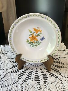 Windemere Garden ORANGE LILY Soup/Cereal Bowl--Made In Japan