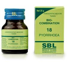 SBL Homeopathy Bio Combination 18 for pyorrhoea Gum Swell toothache  25g Tablets