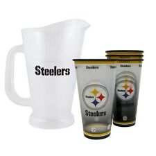 Boelter Brands Pittsburgh Steelers NFL Tailgate Pitcher and Souvenir Cups Set