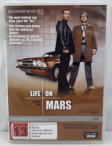 LIFE ON MARS - THE COMPLETE SERIES ONE – DVD, 4-DISC BOX SET- R-2- LIKE NEW
